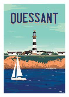All Poster, Poster Prints, Victor Brauner, Sea Illustration, Tourism Poster, Ville France, Brest, Vintage Travel Posters, Surreal Art
