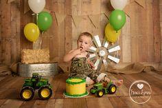 John Deere Cake Smash by Traci Lynn Photography of Mabank Texas