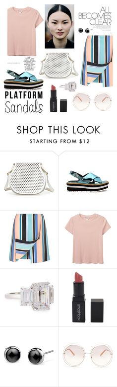 """all becomes clear ... platform sandals"" by akchen ❤ liked on Polyvore featuring Folio, Cynthia Rowley, Opening Ceremony, Monki, Fantasia by DeSerio, Smashbox, Chloé and platforms"