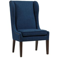 JLA Home Navy Galo Accent Chair ($180) ❤ liked on Polyvore featuring home, furniture, chairs, dark blue chair, navy chair, navy blue chair, navy blue furniture and dark blue furniture