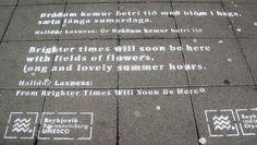 Götuljóð í Reykjavík / Reykjavik street poetry - Halldór Laxness: Úr Bráðum kemur betri tíð eftir Halldór / From Brighter Times Will Soon Be Here