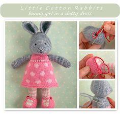 knitting pattern for a bunny girl - knitting patterns