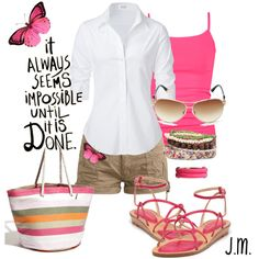 Pink Summer on #polyvore