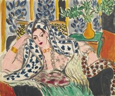 Artwork by Henri Matisse, Odalisque au fauteuil noir, Made of oil on canvas Henri Matisse, Matisse Kunst, Matisse Art, Post Impressionism, Impressionist Art, Matisse Pinturas, Matisse Paintings, Art Brut, Art Graphique
