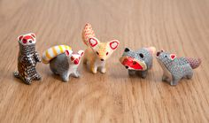 Animal totems from a polymer clay by lifedancecreations.deviantart.com on @DeviantArt