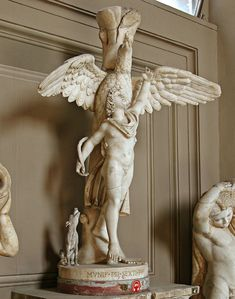 Ganymedes and the Eagle (Zeus/Jupiter), Roman statue (marble), copy after Hellenistic original by Leochares, 2nd century AD (original 4th c. BC), (Musei Vaticani, Vatican City).