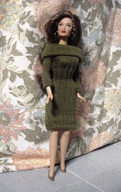 Alysa doll in sock dress