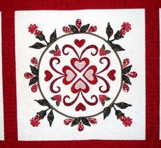 Center block, original design. Flowers for My Valentine, by Janet Henshaw