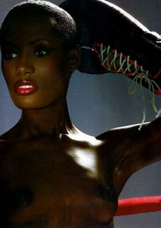 Grace Jones fashion icon trendsetter singer performance artist inspiration Pinterest board board Joseph White amazing celebrity 80's 90's and now sexy daring avaunt-guard her style is a flash back but was and is a look into the future amazing grace jones