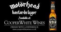 "Motorhead ""Bastards"" Lager Beer, 330ml, 4.7% abv."