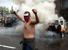 Soccer shame: 3 violent clashes involving Russian football fans - http://www.therussophile.org/soccer-shame-3-violent-clashes-involving-russian-football-fans.html/