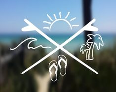 Your place to buy and sell all things handmade - DECAL {Beach Life} Beach Decal Phone Decals, Car Window Decals, Laptop Decal, Car Decals, Vinyl Decals, Image Surf, Travel Photography Inspiration, Sommer Tattoo, Deco Surf