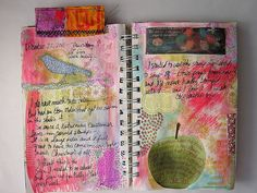 Art Journal page-Apple by AutumnHathaway, via Flickr