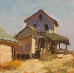"""""""Beach Cottage Color"""" - a daily painting by Jimmy Craig Womble II – sideshow art"""