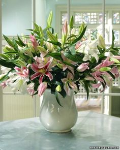 """See the """"Pink Lilies Arrangement"""" in our Lily Arrangements gallery"""
