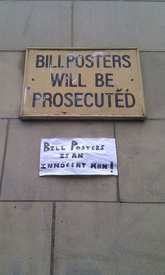 Bill Posters is an innocent man! I laughed way too hard.
