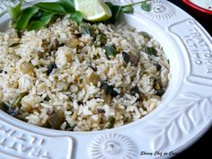 Cajun Rice (with Purple Asparagus and Mushrooms)