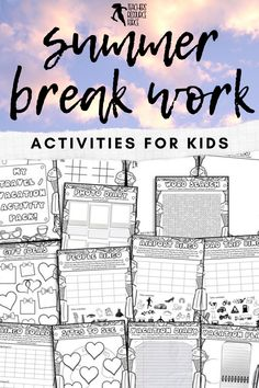 Are you looking for some fun summer break activities for kids to set your students at the end of the school year? This summer break ideas activity pack will help keep your students entertained and off technology! #summerbreakactivities #summeractivities End Of Year Activities, Work Activities, Educational Activities, Summer Activities, Road Trip Bingo, Writing Sites, Guidance Lessons, Secondary School, High School Students