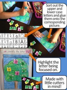 Interactive Notebook {Alphabet} Letter ID, Sounds, Handwri