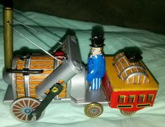 SMALL TIN TOY ...STEAM ENGINE