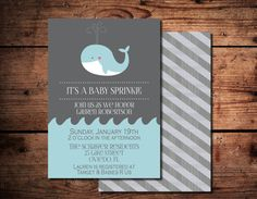 Whale Baby Boy Shower or Sprinkle by SimplyExtravagantInv on Etsy