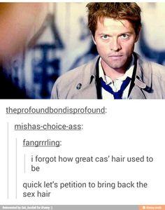 Bring back Cas' sex hair