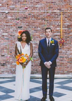 ♥Beautiful Bride: Colorful Styled Shoot Reminiscent of the Spring by Amber Gress, Photographer Interracial Wedding, Interracial Couples, Hotel Wedding Inspiration, Wedding Ideas, Costumes Assortis, Couples Assortis, Wedding Styles, Wedding Photos, Amazing Wedding Dress