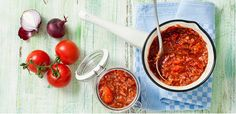 Take a look at this recipe (Quick tomato relish)