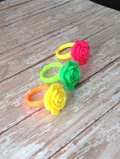 Rose Ring Set, Flower Girl Ring, Flower Girl Jewelry, Flower Girl Gift, Little Girls Rings. Girls Birthday Gifts by JewelsbyRosies on Etsy
