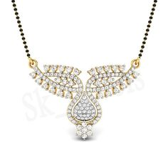 1.55ct NATURAL DIAMOND 14K YELLOW GOLD WEDING ANIVERSARY MANGALSUTRA #Sk_Jewels #Choker