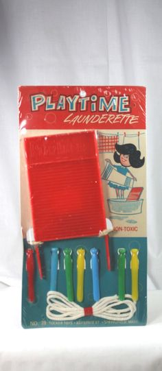 Vintage Child's Toy Playtime Launderette Doll Play Set MOC