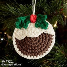 Plum Pudding Crochet Ornaments | Free Pattern | Yarnspirations