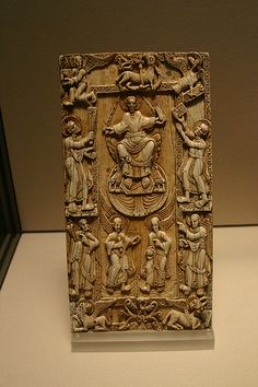 Ivory plaque from a bookbinding, Leon, Spain ca. 1060. Louvre