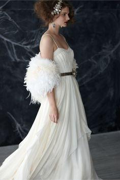 Cascading Goddess Gown from BHLDN (looks a lot like my wedding dress! Formal Wedding, Wedding Styles, Dream Wedding, Summer Wedding, Bridal Gowns, Wedding Gowns, Bhldn, Beautiful Gowns, One Shoulder Wedding Dress