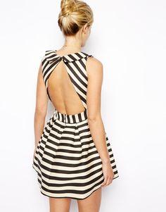 ASOS Petite   ASOS PETITE Exclusive Striped Skater Dress at ASOS