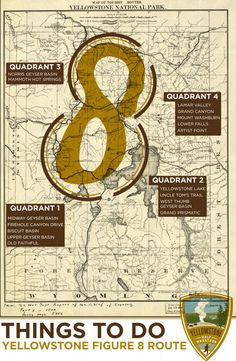 Things to do in Yellowstone (split up into quadrants)