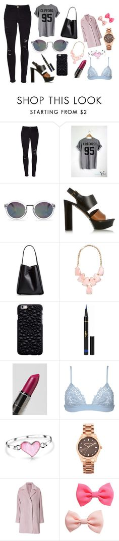 """""""My 4 yr old niece chose everything for this outfit"""" by mikeysloser ❤ liked on Polyvore featuring Frame, Whistles, Marni, 3.1 Phillip Lim, Kendra Scott, Yves Saint Laurent, NYX, La Perla, Bling Jewelry and Michael Kors"""