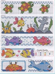 This Pin was discovered by Zeh Cross Stitch Sea, Cross Stitch For Kids, Cross Stitch Bookmarks, Cross Stitch Borders, Cross Stitch Animals, Modern Cross Stitch, Cross Stitch Charts, Cross Stitch Designs, Cross Stitching