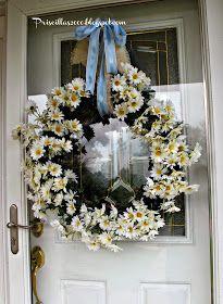 Priscillas: DIY Daisy Wreath