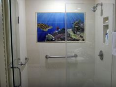 picture tile murel shower - Google Search