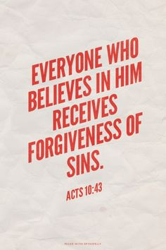 Faith is about forgiveness, not about prosperity. #Bible