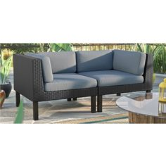 Oakland 2 Piece Loveseat ($1,800) ❤ liked on Polyvore featuring home, furniture and sofas