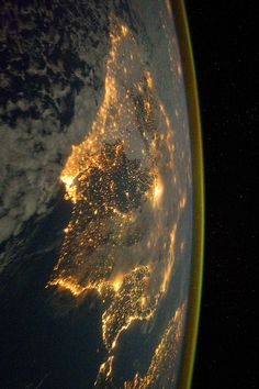 Iberian Peninsula at Night - photograph taken from the International Space Station (ISS).
