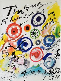 Original udstillingsplakat fra Louisiana Museum of Modern Art 1986. Jean Tinguely, Louisiana Museum, Museum Of Modern Art, The Originals, Fictional Characters, Art Museum, Sculpture, Modern Art Museum