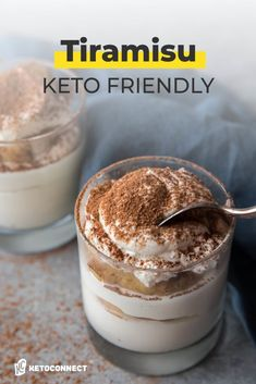 Tiramisu is a classic Italian dessert, and we've made it keto friendly with this recipe. Low Carb Sweets, Low Carb Desserts, Healthy Dessert Recipes, Keto Snacks, Low Carb Recipes, Keto Foods, Ketogenic Foods, Ketosis Diet, Paleo Recipes