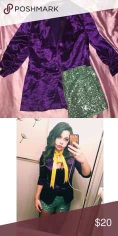 Sexy joker costume Perfect pair for a great Halloween outfit! My costume was a hit!! Charlotte Russe Jackets & Coats Blazers