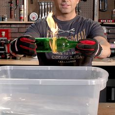 Turn your favorite beer bottle into a rocks glass using a few household materials and a little FIRE!
