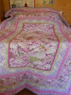Petal Fairy Quilt : Single size Petal Fairy Quilt made with the Michael Miller range of Flower Fairy fabrics and Fairy Frosts.