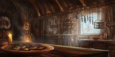 Seaside Tavern Kitchen by lnsan1ty on DeviantArt Tavern Kitchen art Interior concept