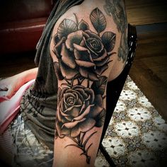 Black and white rose arm tattoo Tattoos Sleeve tattoos. 37 Arm Tattoo Ideas The Best Place To Have Your First Tattoo. 99 Gorgeous Unisex Rose Tattoo Designs That Redefine Sexiness. Tattoo Girls, Girl Arm Tattoos, Upper Arm Tattoos, Body Art Tattoos, Forearm Tattoos, Tatoos, Rosen Tattoo Arm, Rose Tattoos For Women, Rose Sleeve